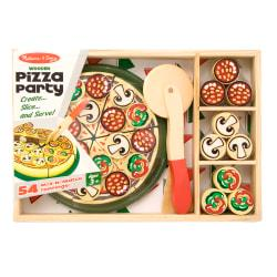 Melissa Doug 64-Piece Pizza Party Wooden Pizza Set