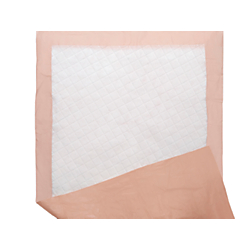 Protection Plus Polymer Disposable Underpads, 27in. x 70in., Peach, 5 Per Bag, Case Of 15 Bags