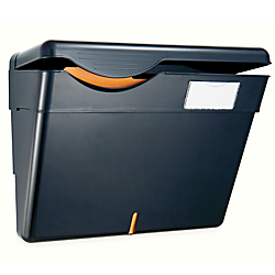 OIC(R) 30% Recycled Security Wall File With Lid, Letter Size, Black