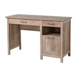 Homestar North America 3-Drawer Pedestal Desk, FSC(R) Certified, Natural