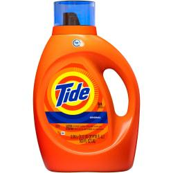 Tide Liquid Laundry Detergent - Liquid - 0.78 gal (99.75 fl oz) - Original Scent - 4 / Carton - Orange