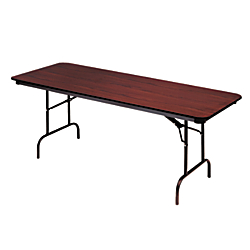 Iceberg Premium Folding Table, Rectangular, 29in.H x 60in.W x 30in.D, Mahogany\/Brown