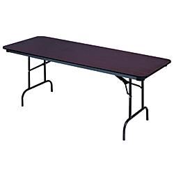 Iceberg Premium Wood Laminate Folding Table, Rectangular, 29in.H x 72in.W x 30in.D, Mahogany\/ Brown