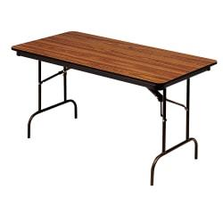 Iceberg Premium Folding Table, Rectangular, 72in.W x 30in.D, Oak\/Brown