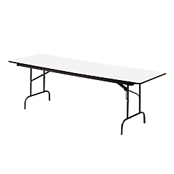 Iceberg Premium Wood Laminate Folding Table, Rectangular, 29in.H x 72in.W x 30in.D, Gray\/Charcoal