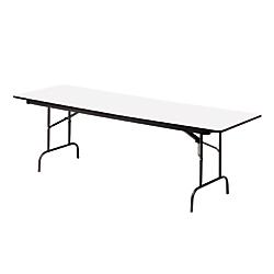 Iceberg Premium Wood Laminate Folding Table, Rectangular, 29in.H x 72in.W x 30in.D, Gray\/Charcoal