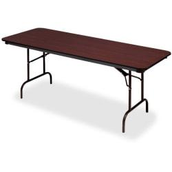 Iceberg Premium Wood Laminate Folding Table, rectangular, 29in.H x 96in.W x 30in.D, Mahogany\/Brown