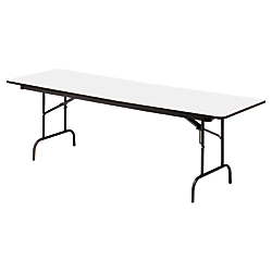 Iceberg Premium Wood Laminate Folding Table, Rectangular, 29in.H x 96in.W x 30in.D, Gray\/Charcoal