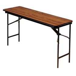 Iceberg Premium Folding Table, Rectangular, 29in.H x 60in.W x 18in.D, Oak\/Brown