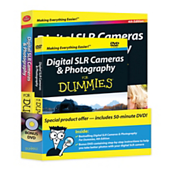 Digital SLR Cameras Photography For Dummies(R), 4th Edition Book DVD Bundle