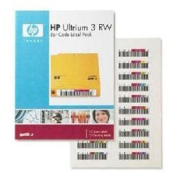 HP Ultrium 3 RW Bar Code Label Pack, YZ4293, Q2007A, Pack Of 100 Data Labels And 10 Cleaning Labels