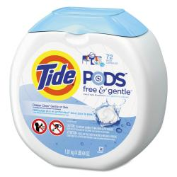 Tide(R) Free Gentle(TM) Laundry Detergent PODS(TM), Pack Of 72 Pods, Carton Of 4 Packs