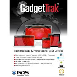 GadgetTrak Laptop Family Pack PC - 5 Devices for 3 Years, Download Version