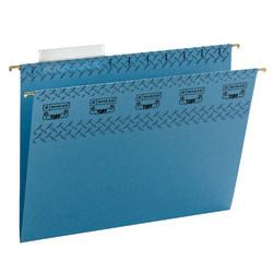 Smead(R) TUFF(R) Hanging File Folders With Easy Slide(TM) Tabs, Letter Size, Blue, Pack Of 18