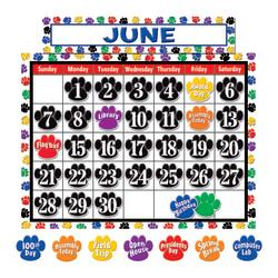 Teacher Created Resources Colorful Paw Prints Calendar Set, 24in. x 18in., Multicolor, Pre-K - Grade 5