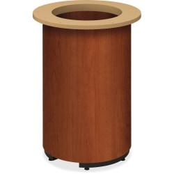 HON Preside Laminate Conference Table Base - Cylindrical Base - Cognac, High Pressure Laminate (HPL) - Plywood
