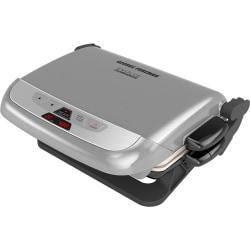 George Foreman Evolve Grill With Waffle Plates And Ceramic Grill Plates - Platinum