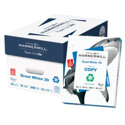Hammermill Great White Copy Paper, 3-Hole Punched, 8 1/2in.