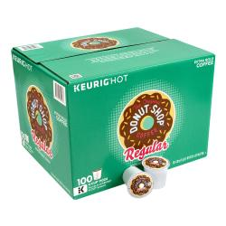 The Original Donut Shop(R) Regular Medium Roast Coffee K-Cup(R) Pods, 1 Oz, Pack Of 100 Pods