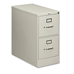 HON(R) 210-Series Vertical Filing Cabinet, Letter Size, 2 Drawers, 29in.H x 15in.W x 28 1/2in.D, Light Gray