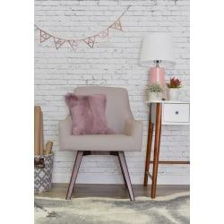 Elle Decor Paige Home Office Chair, Pink/Dark Chinese Chestnut