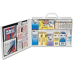 Pac-Kit 100 Person Industrial First Aid Kit, Two-Shelf Industrial-Style Station 35 Pieces