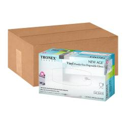 Tronex New Age Disposable Powder-Free Vinyl Gloves, Medium, Blue, Pack Of 1,000 Gloves