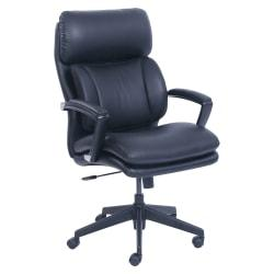 Lorell(R) Incite Bonded Leather High-Back Chair, Black