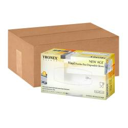 Tronex New Age Disposable Powder-Free Vinyl Gloves, Small, Natural, Pack Of 1,000 Gloves