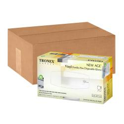 Tronex New Age Disposable Powder-Free Vinyl Gloves, X-Large, Natural, Pack Of 1,000 Gloves