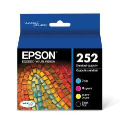 Epson(R) DuraBrite(R) T252120-BCS Black/Cyan/Magenta/Yellow Ink Cartridges, Pack Of 4
