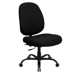 Flash Furniture HERCULES Fabric High-Back Big And Tall Swivel Chair, Black