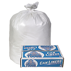 Pitt Plastics Linear Low Density Can Liner, 0.75-mil, 30in. x 36in., White, Case Of 200