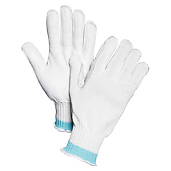 Sperian Perfect Fit HPPE HPF7 Cut-resist Gloves - Medium Size - High Performance Polyethylene (HPPE), Leather Palm - White - Cut Resistant, Heavyweight, Abrasio