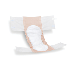 FitRight Extra Disposable Briefs, Small, Peach/White, 20 Briefs Per Bag, Case Of 4 Bags