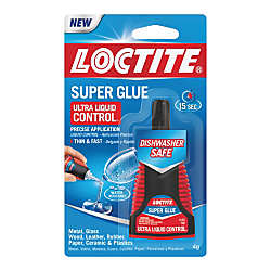 Loctite Ultra Liquid Super Glue With Control Applicator, 0.14 Oz, Clear