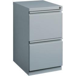 Lorell(R) 19 7/8in.D Mobile Letter-Size Pedestal File Cabinet, File/File, Platinum