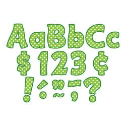 Teacher Created Resources Funtastic Font Polka Dot Letters And Numbers, 4in., Lime, Pre-K - Grade 8, Pack Of 208
