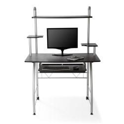 Brenton Studio(R) Zillope II Computer Desk, 56 1/4in.H x 39 3/8in.W x 23 3/4in.D, Black