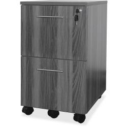 Mayline Gray Laminate Mobile F/F Pedestal File - 18in. x 15.5in. x 26.8in. - 2 x File Drawer(s) - Material: Steel - Finish: Gray, Laminate