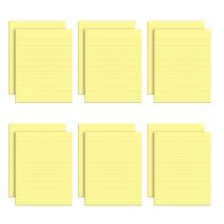 TOPS(TM) The Legal Pad(TM) Glue-Top Writing Pads, 8 1/2in. x 11in., Narrow Ruled, 50 Sheets, Canary, Pack Of 12 Pads