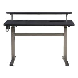 ZLD Performance Series 1.8 Electric Sit/Stand Height-Adjustable Gaming/Work Desk, Graphite