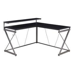 ZLD Performance Series 1.6 L-Shaped Gaming/Work Desk, Black