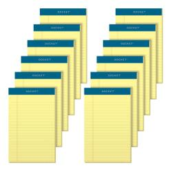 TOPS(TM) Docket(TM) Writing Pads, 5in. x 8in., Legal Ruled, 50 Sheets, Canary, Pack Of 12 Pads