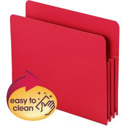 Smead(R) Poly Expanding File Pockets, Letter Size, 3 1/2in. Expansion, Red, Pack Of 4