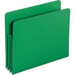 Smead(R) Poly Expanding File Pockets, Letter Size, 3 1/2in. Expansion, Green, Pack Of 4