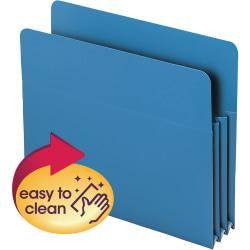 Smead(R) Poly Expanding File Pockets, Letter Size, 3 1/2in. Expansion, Blue, Pack Of 4