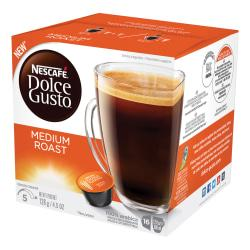 Nescafe Dolce Gusto Medium Roast Coffee Capsules Capsule - Compatible with Majesto Automatic Coffee Machine - Colombia, Brazilian, Ethiopian Blend, Jasmine, Toa
