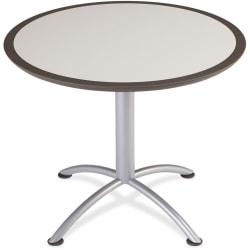 Iceberg Dura-Comfort Edge Round Hospitality Table - Round Top - 1.13in. Table Top Thickness x 36in. Table Top Diameter - 29in. Height - Assembly Required - Gray