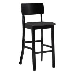 Linon Home Decor Products Torino Bar Stool, 30in.H, Dark Brown/Black